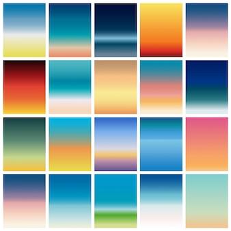 Fond de couleur douce. écran moderne pour application mobile. dégradés de couleurs douces.