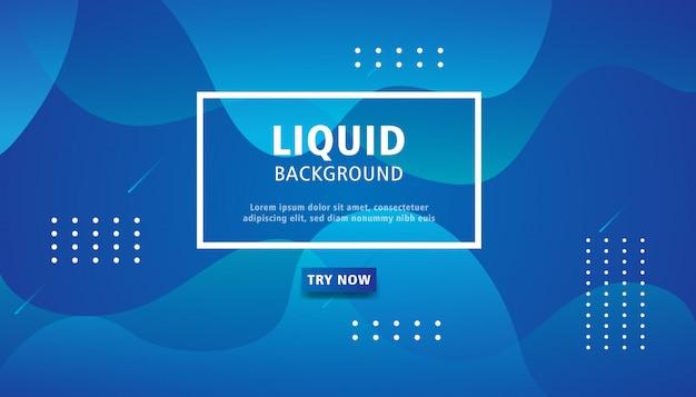 Fond de couleur liquide bleu.
