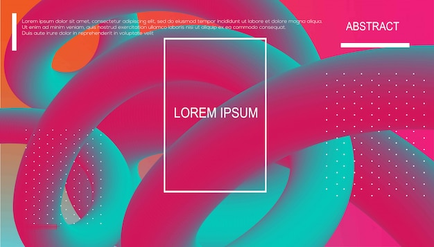 Fond de couleur liquide. composition de formes de gradient fluide