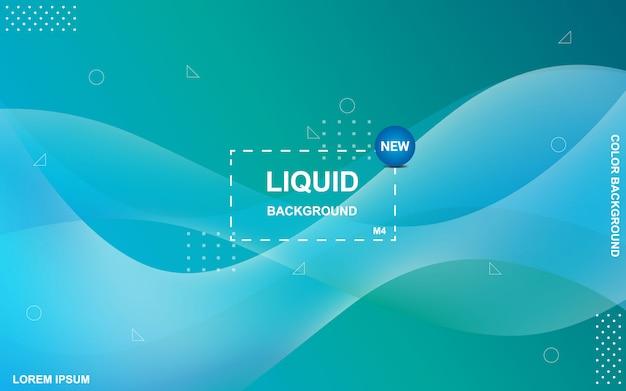 Fond de couleur liquide. composition de formes de gradient fluide.