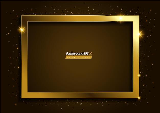 Fond de couleur marron doré de luxe moderne