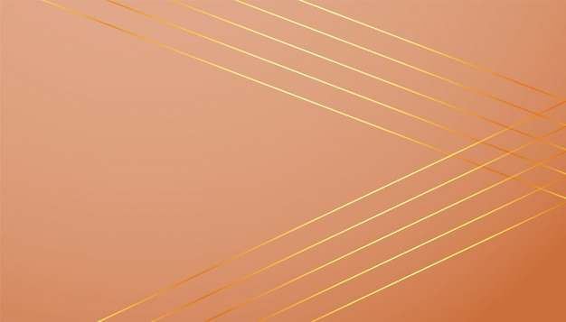 Fond de couleur pastel avec des formes de lignes dorées