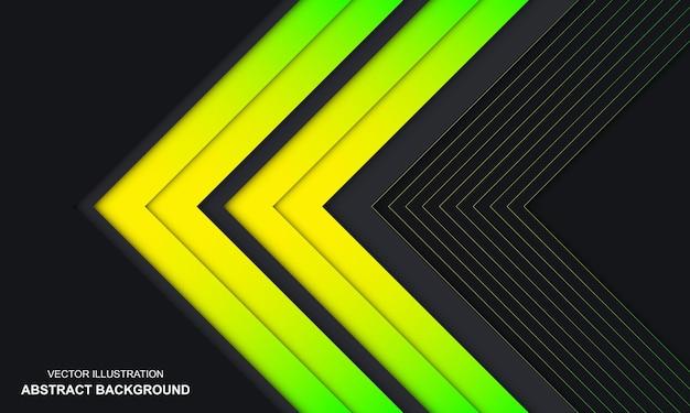 Fond de couleur vert et jaune abstrait moderne