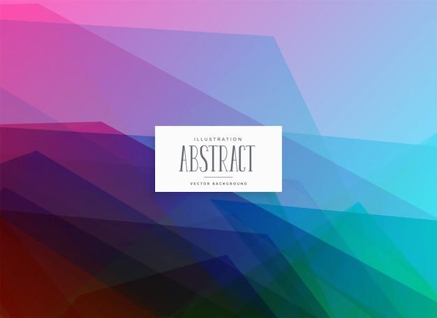 Fond de couleurs abstraites géométriques vibrantes