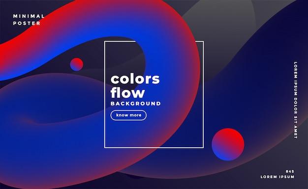 Fond de couleurs fluides sombres