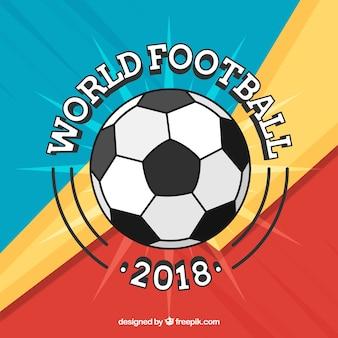Fond de coupe du monde 2018 dans le style plat