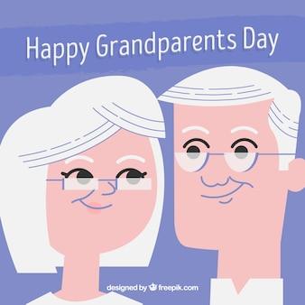 Le fond des couples de grands parents en style vintage