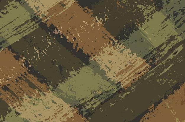Fond de coups de pinceau militaire abstrait