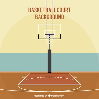 Fond de la cour de basket-ball