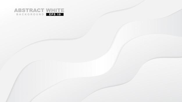 Fond de courbe de couleur dégradé abstrait blanc et gris