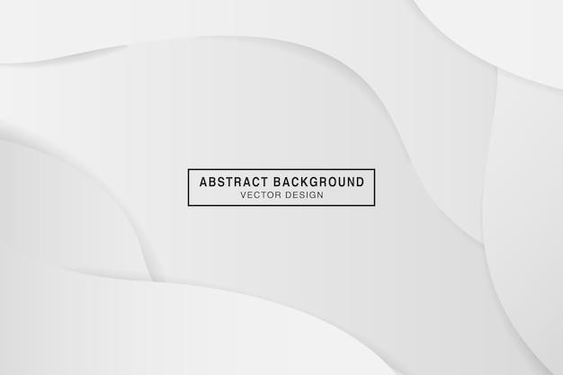 Fond de courbe de couleur dégradé blanc abstrait avec style papercut