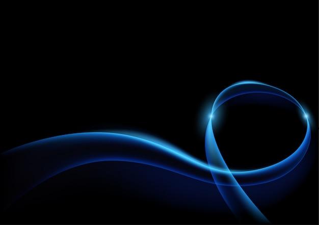 Fond de courbes de foudre bleu