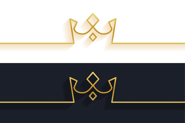Fond de couronne de ligne minimaliste
