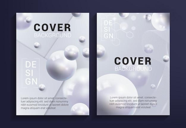 Fond de couverture blanche moderne
