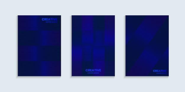 Fond de couverture bleu vif brillant avec des lignes géométriques