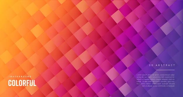 Fond de couverture de forme géométrique abstraite colorée