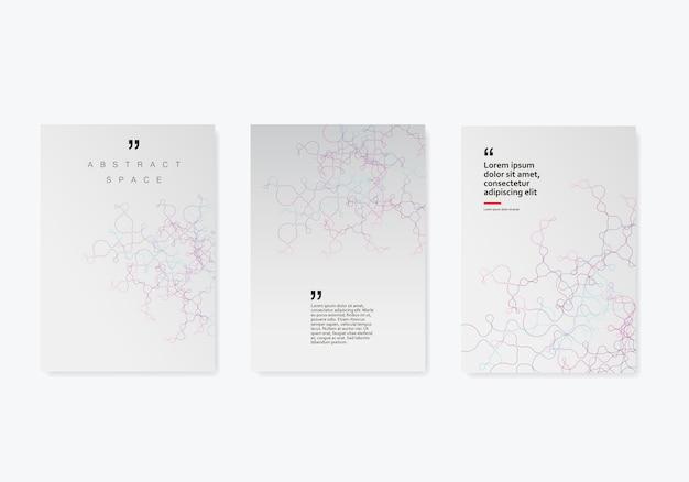 Fond de couverture géométrique abstraite avec des lignes et des points connectés