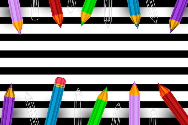 Fond de crayons
