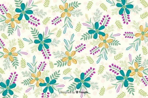 Fond créatif avec des fleurs colorées