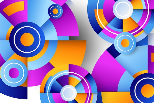 Fond créatif avec des formes dégradées géométriques