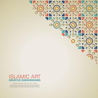 Fond créatif islamique avec mosaïque colorée