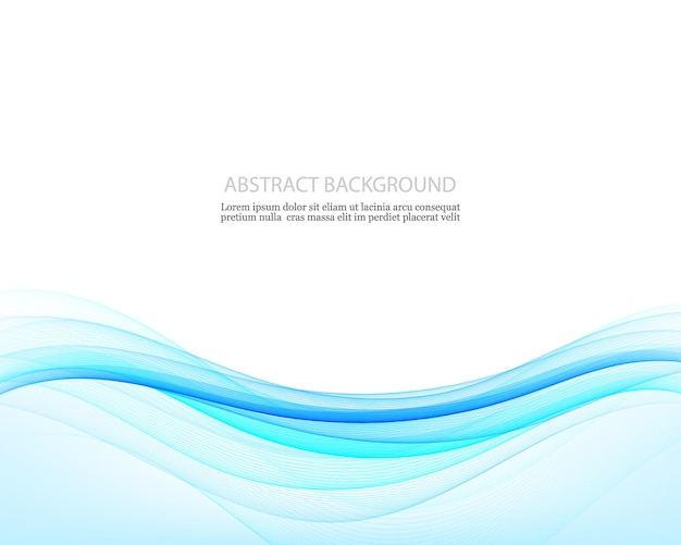 Fond de créativité abstraite des vagues bleues, illustration