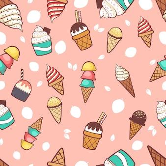 Fond de crème glacée sans soudure