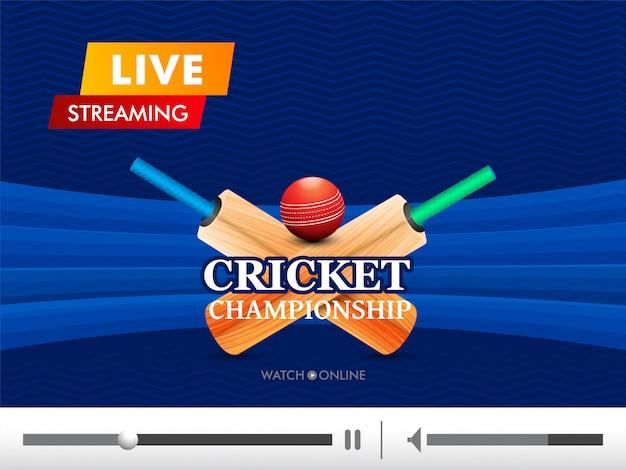 Fond de cricket concept.