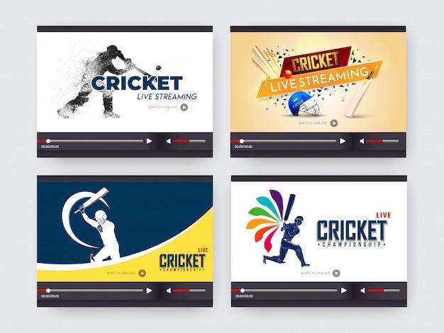 Fond de cricket.