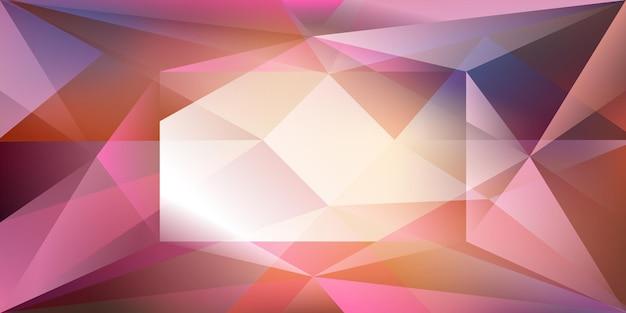 Fond de cristal abstrait avec réfraction de la lumière et reflets dans les couleurs violettes et roses