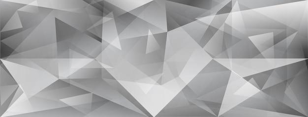 Fond de cristal abstrait avec réfraction de la lumière et reflets en gris
