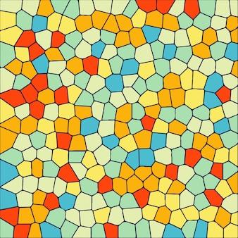 Fond de cristal mosaïque moderne coloré