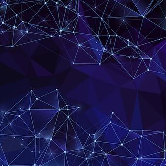 Fond de cristaux numériques modernes avec une texture de diamant