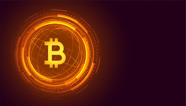 Fond de crypto-monnaie de la technologie bitcoin mondiale