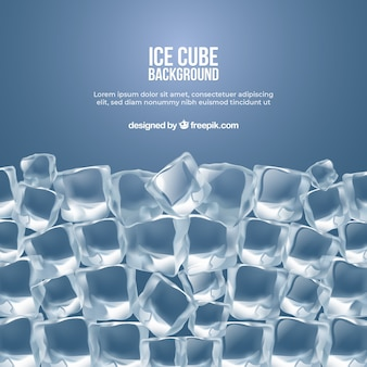 Fond de cube de glace dans un style réaliste