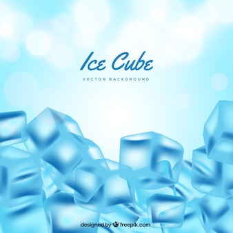 Fond de cube de glace