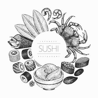 Fond de cuisine sian de style rétro.