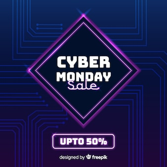 Fond de cyber lundi design plat