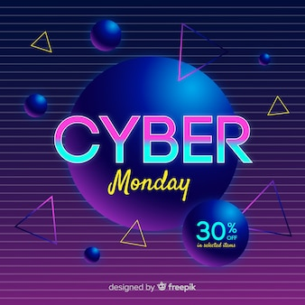 Fond de cyber lundi futuriste rétro