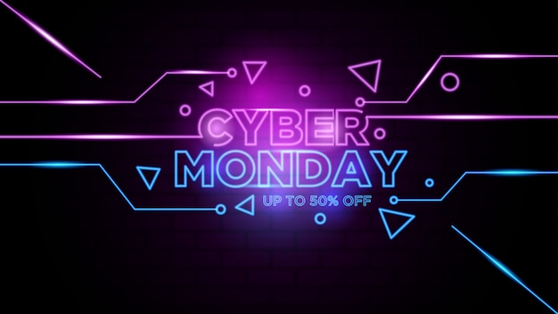 Fond de cyber lundi lundi