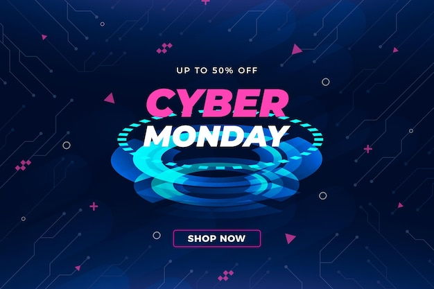 Fond de cyber lundi de technologie réaliste
