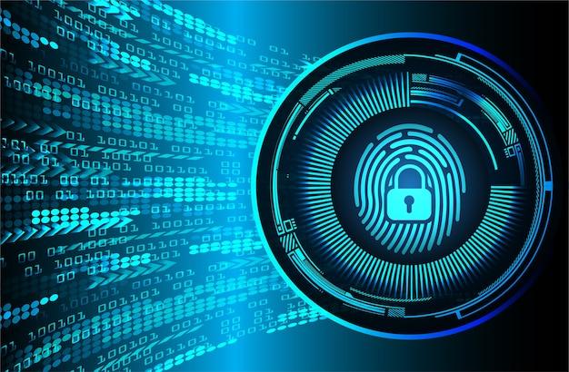 Fond de cyber-sécurité réseau d'empreintes digitales.