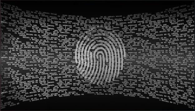Fond de cybersécurité de réseau d'empreintes digitales.