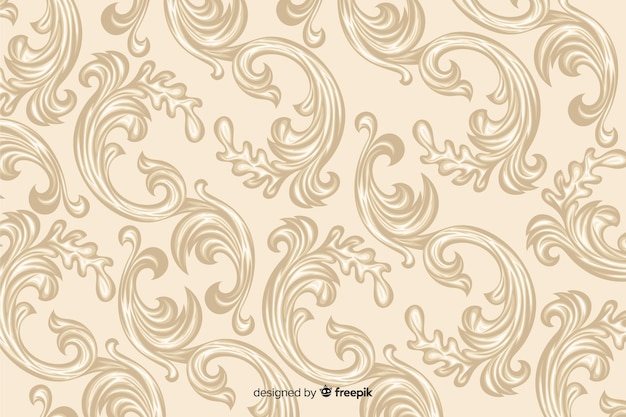 Fond damassé décoratif dessiné à la main
