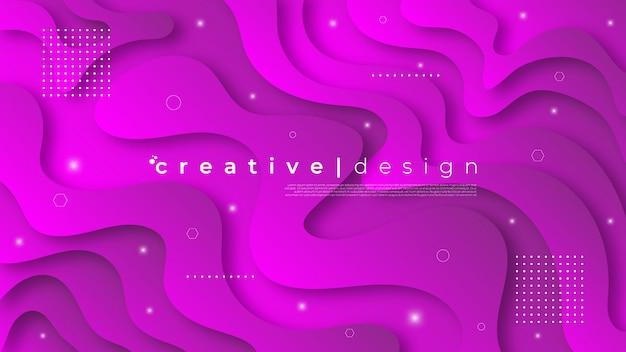 Fond dans un style moderne avec des formes fluides