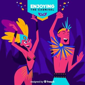 Fond de danseurs de carnaval brésilien