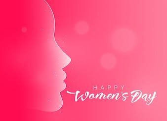 Fond de belle journée heureuse de la femme rose