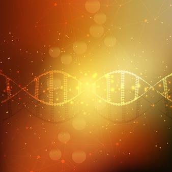 Fond de brins d'ADN abstrait