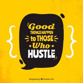 Fond de citation de motivation en couleur jaune
