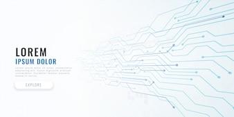 Fond de concept de diagramme de circuit de technologie